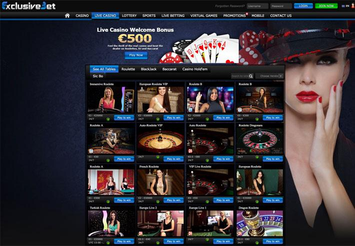exclusive bet live casino